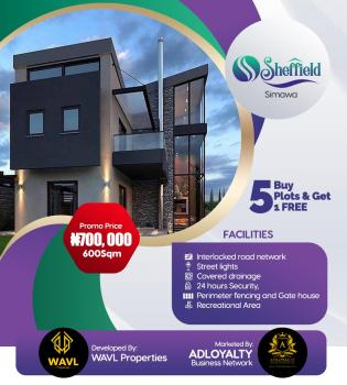 Sheffield Estate, 10 Mins Drive From The Rccg New Auditorium., Simawa, Ogun, Mixed-use Land for Sale