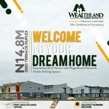 2 Bedroom Terrace Duplex, Wealthlands Green Estate, Oribanwa, Ibeju Lekki, Lagos, Terraced Duplex for Sale