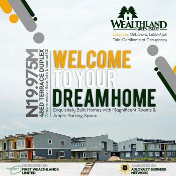 4 Bedroom Terraced Duplex, Wealthlands Green Estate, Oribanwa, Ibeju Lekki, Lagos, Terraced Duplex for Sale