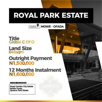 Royal Park Estate, Mowe Ofada, Ogun, Residential Land for Sale