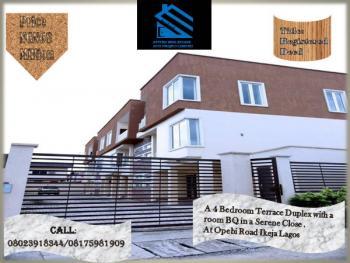 a 4 Bedroom Terrace Duplex with a Room Bq in a Serene Close, Opebi, Ikeja, Lagos, Terraced Duplex for Sale