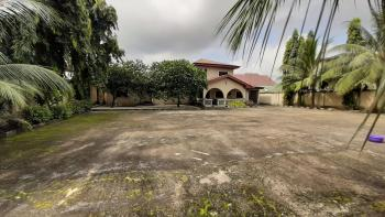 Well Located and Fully Fenced Four (4) Plots Conerpiece Residential Land with 5 Bedroom Detached Bungalow, Akpajo / Elelenwo Road, Port Harcourt, Rivers, Residential Land for Sale