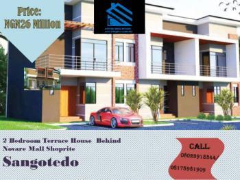 2 Bedroom Terrace, Behind Novare Mall Shoprite, Sangotedo, Ajah, Lagos, Terraced Duplex for Sale