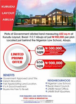 Cheap Abuja 650sq.m of Land at Kurudu Layout, Kurudu Layout, Bwari, Bwari, Abuja, Mixed-use Land for Sale
