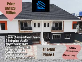 2 Units of Semi-detached Homes with Five Bedroom En Suites, Lekki Phase 1, Lekki, Lagos, Semi-detached Duplex for Sale