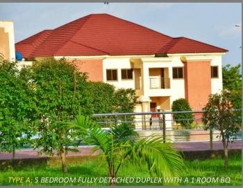 Super Luxury 5 and 6 Bedroom Fully Detached Duplexes with a Room Bq, Kado, Abuja, Detached Duplex for Sale