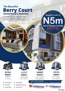 4 Bedroom Semi Detached Duplex with Gym & Cinema, Berry Court, Omole Phase 2, Ikeja, Lagos, Semi-detached Duplex for Sale