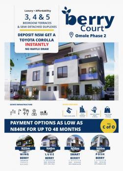 Own a 4 Bedroom Duplex + Car with N5m Deposit, Omole Estate, Omole Phase 2, Ikeja, Lagos, Semi-detached Duplex for Sale