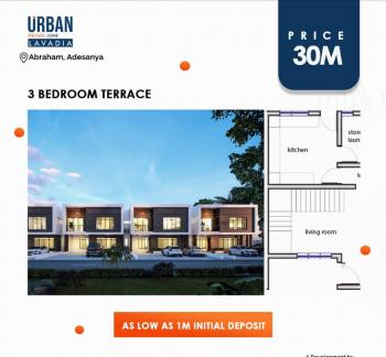 Buy Your Luxurious 3 Bedroom Terraced Duplex in a Secured Location, Pay Initial Deposit of 1m and Spread Within 18month, Facing The Express, 5 Minutes Away From Vgc, Abraham Adesanya Estate, Ajah, Lagos, Terraced Duplex for Sale