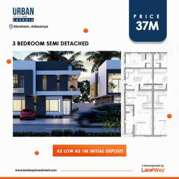 3 Bedroom Semi-detached Duplex, Off Ogombo Road, Abraham Adesanya Estate, Ajah, Lagos, Semi-detached Duplex for Sale