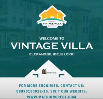 Plot of Land at Vintage, Eleranigbe, Ibeju Lekki, Lagos, Residential Land for Sale