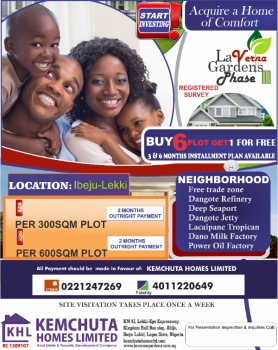 La Verna Gardens Phase Ii, Eleko, Ibeju Lekki, Lagos, Mixed-use Land for Sale