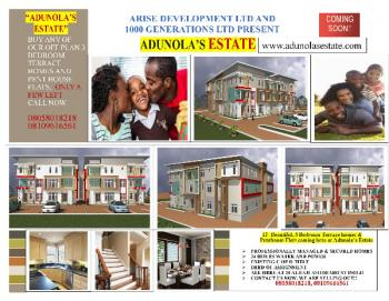 for Sale Offplan Luxury 3 Bedroom Terrace and Penthouse Flats/ Apartments in Isolo Lagos Nigeria, Alhaji Ashiriabo Street, Isolo, Lagos, Terraced Duplex for Sale