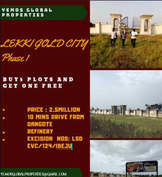 Most Strategic Located Dry Land Facing Express, 10mins Drive From Dangote Refinery., Akodo Ise, Ibeju Lekki, Lagos, Mixed-use Land for Sale