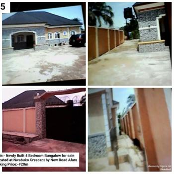 Four Bedroom Bungalow with Large Compound, Nwabuko Crescent, New Road Afara, Umuahia, Abia, Detached Bungalow for Sale