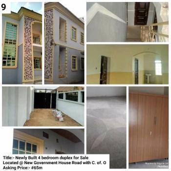 Four Bedroom Duplex, New Government House Road, Umuahia, Abia, Detached Duplex for Sale