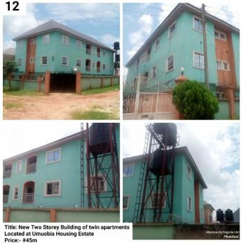 New Two Storey Building, Umuobia Housing Estate, Umuahia, Abia, Block of Flats for Sale