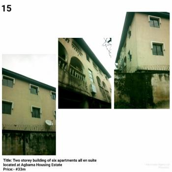 Two Storey Building, Agbama Housing Estate, Umuahia, Abia, Block of Flats for Sale