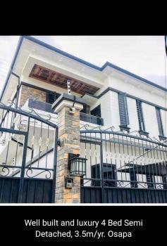 Luxury Four Bedroom Semi Detached Duplex with Bq, Osapa, Lekki, Lagos, Semi-detached Duplex for Rent