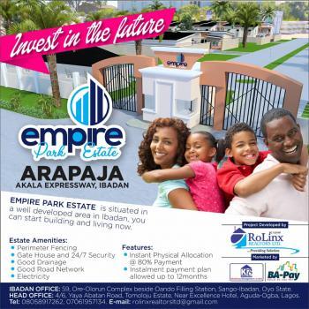 Plot, Off New Garage,akala Express Way,arapaja Ibadan, Challenge, Ibadan, Oyo, Residential Land for Sale