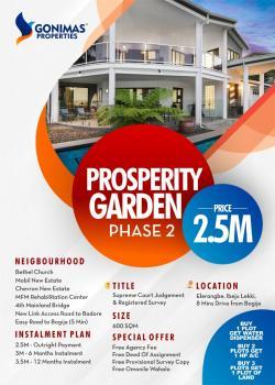 Estate Land Excisions Dry, Dangote Refinery and Close Pan Atlantic University, Eleranigbe, Ibeju Lekki, Lagos, Residential Land for Sale