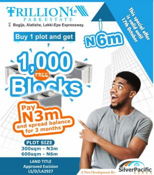 Trillion Park Estate an Affordable Luxury Designed for Class. This Estate a Great Investment for Buy and Build and Land Banking., Located in The Serene Area of Bogije, a Place That Welcomes You Home. with Proximity to Pan African University, Shoprite, The Lekki British School, Farapark, Greenspring School, Coscharis Motors. Get Free 1000 Blocks per Plot and Get Instant Allocation., Lekki, Lagos, Residential Land for Sale
