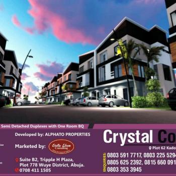 Luxury 4 Bedroom Semi Detached Duplexes with 1 Room Bq, Plot 62 Kado District, Kado, Abuja, Semi-detached Duplex for Sale