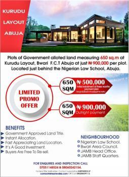 650sq.m of Abuja Land, Layout, Kuduru, Bwari, Abuja, Mixed-use Land for Sale