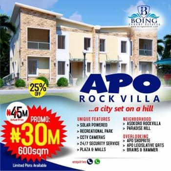 Estate Land, Location: Apo Rock Villa Estate, Apo, Abuja, Residential Land for Sale