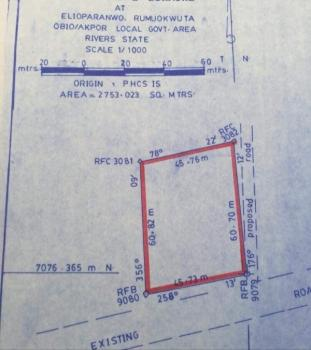 an Acre of Land, Elioparanwo, Rumuokwuta, Obio-akpor, Rivers, Commercial Land for Sale