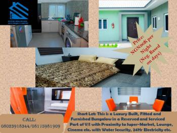 Luxury Built, Fitted and Furnished Bungalow in a Reserved and Serviced Part, Victoria Island Extension, Victoria Island (vi), Lagos, House Short Let