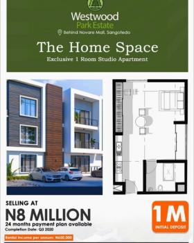 Exclusive 1room Studio Apartment, You Can Partition and Design This Large Space to Suit Your Desired Outlay, Westwood Park Estate, Sangotedo, Ajah, Lagos, Block of Flats for Sale