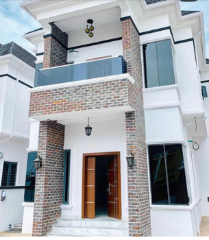 Beautiful New 5 Bedroom Detached Duplex with Bq in a Neat and Secured Estate., Second Toll Gate, Lekki, Lagos, Detached Duplex for Sale