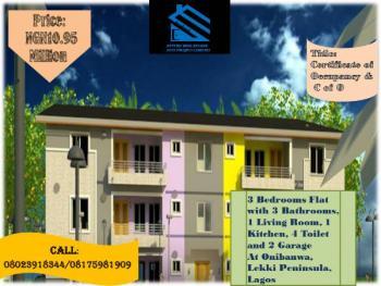 3 Bedrooms Flat with 3 Bathrooms, 1 Living Room, 1 Kitchen, 4 Toilet and 2 Garage, Onibanwa, Lekki Peninsula, Lekki Phase 2, Lekki, Lagos, Terraced Bungalow for Sale