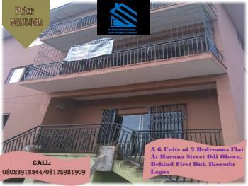 a 6 Units of 3 Bedroom Flat, Haruna Street Odi Olowu, Behind 1st Bank, Ikorodu, Lagos, House for Rent