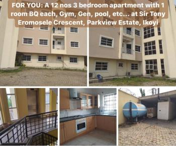 a Well Maintained and Solidly Built Luxurious 12 Numbers of 3 Bedroom Apartment, Sir Tony Eromosele Crescent, Parkview Estate, Parkview, Ikoyi, Lagos, Block of Flats for Sale