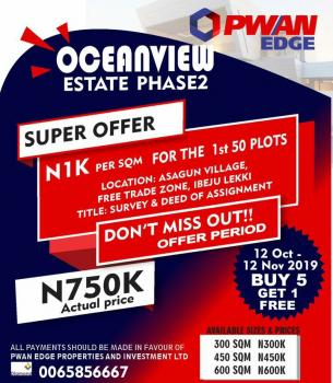 Ocean View Estate, Asegun, Ibeju Lekki, Lagos, Mixed-use Land for Sale
