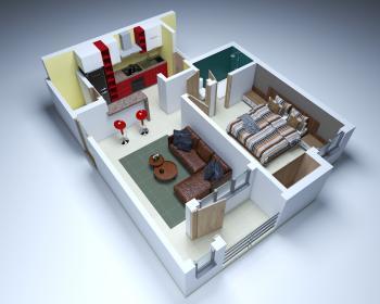 1bedroom Apartment, Ajah, Lagos, Mini Flat for Sale