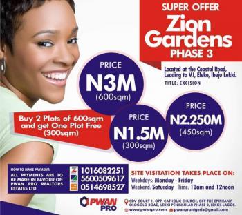 Zion Gardens Phase 3 (buy 2 Get Free Plot), Okun Igando Community, Eleko, Ibeju Lekki, Lagos, Mixed-use Land for Sale