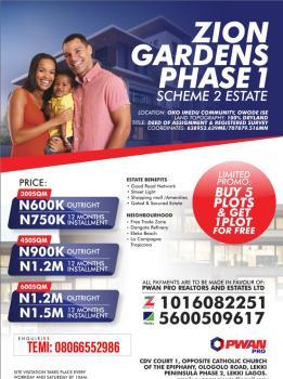 Land, Zion Gardens Phase 1 Scheme 2 Owode Ise, Okun Imedu, Ibeju Lekki, Lagos, Mixed-use Land for Sale