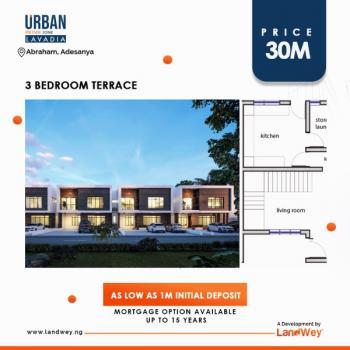 3 Bedroom Terrace Duplex, Opposite  General Hospital, Abraham Adesanya Estate, Ajah, Lagos, Terraced Duplex for Sale