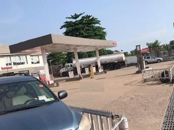 a Functioning Filling Station Sitting on 1,350sqm Land, Okota, Isolo, Lagos, Filling Station for Sale