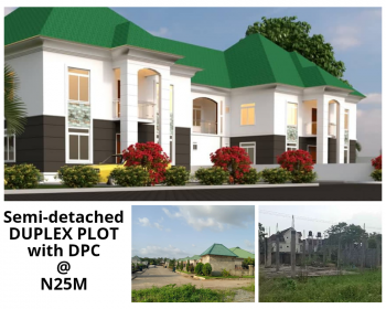 a Sweet Duplex Plot with Foundation and Pillars  Within a Fully Built Environment, Opposite Ebeano Supermarket/tarred Road Network, Gaduwa, Abuja, Residential Land for Sale