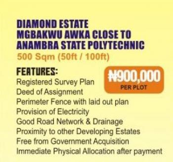 Estate Land, Close to Anambra State Polytechnic, Awka, Anambra, Residential Land for Sale