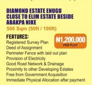 Estate Land, Close to Elim Estate, Abakpa Nike, Enugu, Enugu, Residential Land for Sale