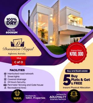 Dominion Royal Estate, Buy & Build with Instant Physical Allocation, Free From All Encumbrances with C of O. 5 Plots Get 1 Plot Free, Dominion Royal Estate, Agbowa, Ikorodu, Lagos, Residential Land for Sale