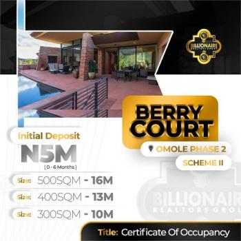 Berry Court Omole Phase 2, 5mins Drive From Ikeja City Mall, Omole Phase 2, Ikeja, Lagos, Mixed-use Land for Sale