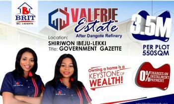 Land, Off Dangote Refinery Road, Eleranigbe, Ibeju Lekki, Lagos, Mixed-use Land for Sale