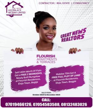 2bedroom Flat, Orchids Road, Lafiaji, Lekki, Lagos, Flat for Sale
