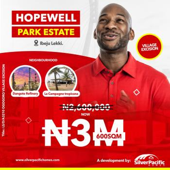 Hopewell Park Estate. with Government Approved Title, 100% Dry with Instant Alloaction.gatehouse, Perimeter Fencing Already Done, Along The Lekki Free Trade Zone, Few Minutes After The Multi Billion Dollars Dangote Refinery and Before The Prestigious La Campaigne Tropicana Beach Resort, Lekki Free Trade Zone, Lekki, Lagos, Mixed-use Land for Sale